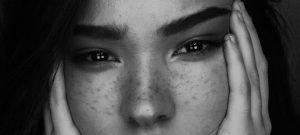 eyes of girl facing the camera