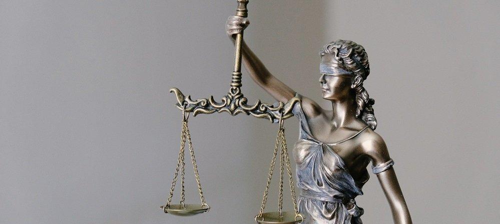 Blind Justice statue